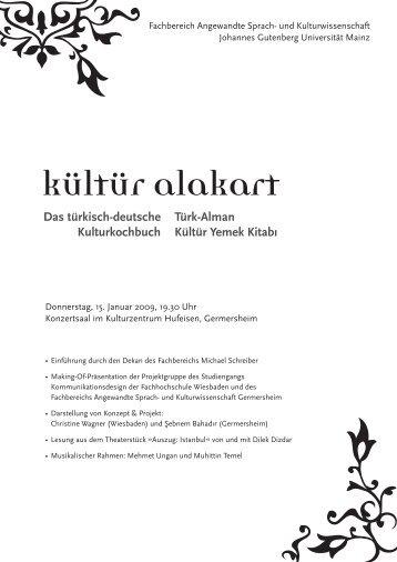 Das türkisch-deutsche Kulturkochbuch Türk-Alman Kültür Yemek ...