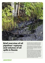 Brief overview of oil pipelines' ruptures and volumes of oil spills in ...