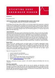 Persbericht 22 september 2010 SCHRIJVER IN DE KERK - EEN ...