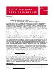 Laatste werk Op Hoogte Gedacht plaatsing - Stichting Oude ...