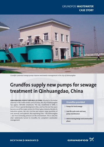 Grundfos supply new pumps for sewage treatment in Qinhuangdao ...