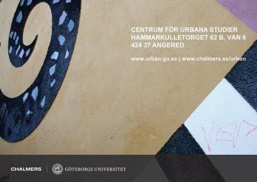 VAD ÄR CENTRUM FÖR URBANA STUDIER HAMMARKULLEN?