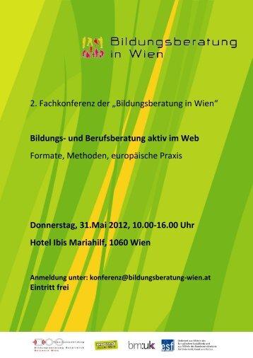 """2. Fachkonferenz der """"Bildungsberatung in Wien"""" Bildungs- und ..."""