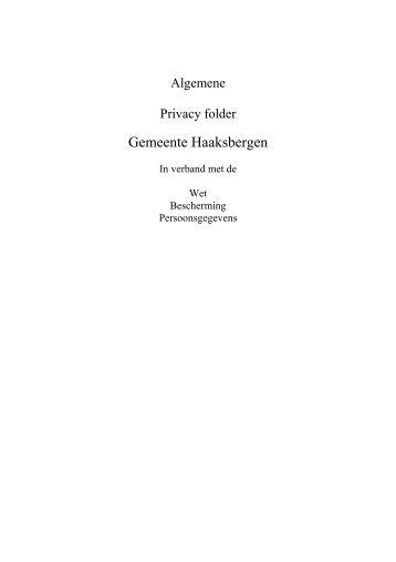 Algemene Privacy folder Gemeente Haaksbergen