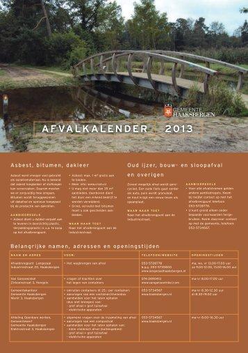 AFVALKALENDER 2013 - Gemeente Haaksbergen