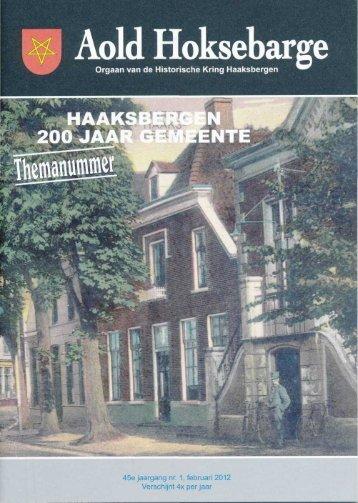 Klik hier voor het themanummer van Aold Hoksebarge - Gemeente ...