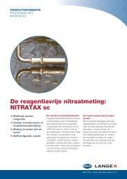 De reagentiavrije nitraatmeting: NITRATAX sc - HACH LANGE