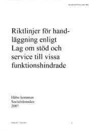 LSS-Riktlinjer för handläggning 2007 - Håbo kommun