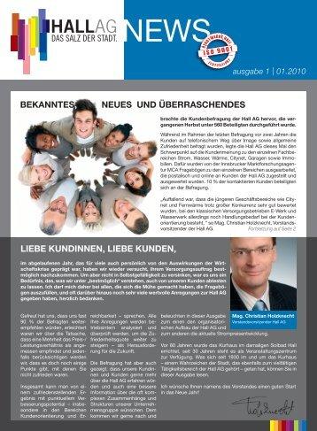 Ausgabe 01/2010 - Hall AG