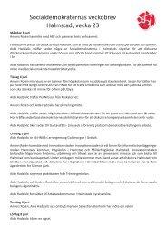 Socialdemokraternas veckobrev,v23.pdf - Halmstad
