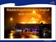 Räddningsledarens beslut och mandat - Halmstad