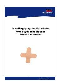 Handlingsprogram för arbete med skydd mot olyckor - Halmstad