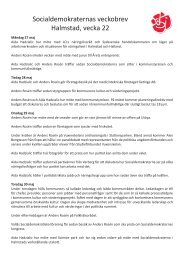 Socialdemokraternas veckobrev Halmstad, vecka 22