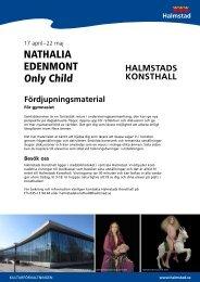 Fördjupningsmaterial Nathalia Edenmont - Halmstad