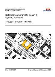 Detaljplaneprogram för Gasen 1 Nyhem, Halmstad