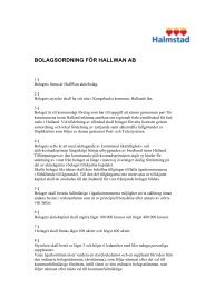 Bolagsordning HallWan AB - Halmstad