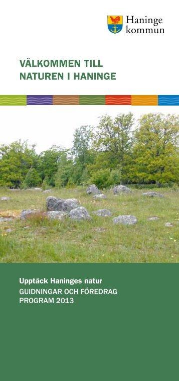 Upptäck Haninges natur - Guidningar och föredrag 2013