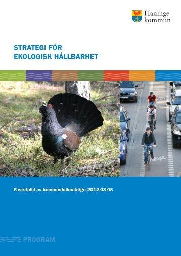 STRATEGI FÖR EKOLOGISK HÅLLBARHET - Haninge