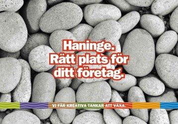 Läs mer i Broschyren om att driva företag i Haninge