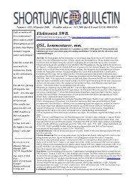 Elektronisk SWB. QSL, kommentarer, mm. - Hard-Core-DX.com