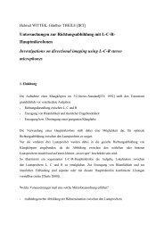Untersuchungen zur Richtungsabbildung mit L/C/R-Hauptmikrofonen
