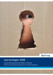 Analyse beloningsinformatie Raden van Bestuur 2008 - Hay Group