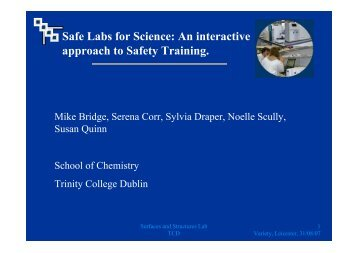 Safe labs for science: an interactive approach to safety training - M ...