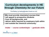 Curriculum developments in HE through Chemistry for our Future