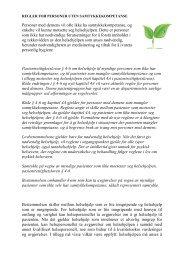 Regler for samtykkekompetanse