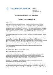 Nettverk og samarbeid - Helse Møre og Romsdal HF