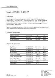 Materialdatenblatt Feinpolyamid PA 2200 für EOSINT P