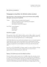 Partigrupperna och politiken i det officiella nordiska samarbetet