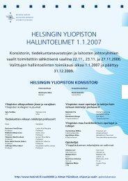 Helsingin yliopiston hallintoelinten jäsenet (pdf) - Helsinki.fi