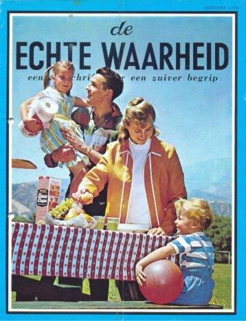Echte Waarheid 1970 (No 01) Jan - Herbert W. Armstrong Library ...