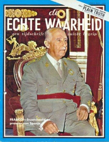Echte Waarheid 1970 (No 0405) Apr-Mei - Herbert W. Armstrong ...