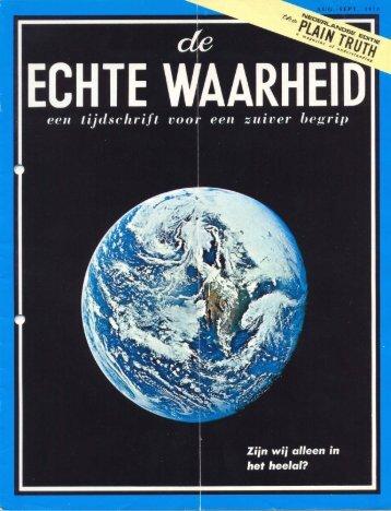 Echte Waarheid 1970 (No 0809) Aug-Sep - Herbert W. Armstrong ...