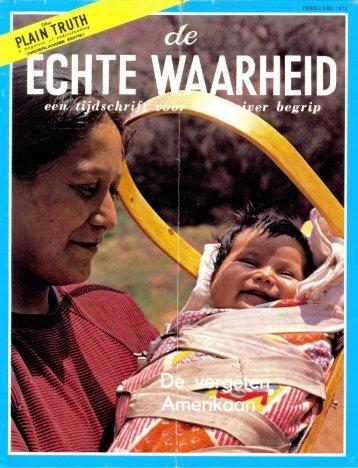 Echte Waarheid 1973 (No 02) Feb - Herbert W. Armstrong Library ...