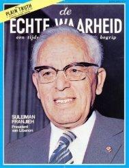 Echte Waarheid 1974 (No 01) Jan - Herbert W. Armstrong Library ...