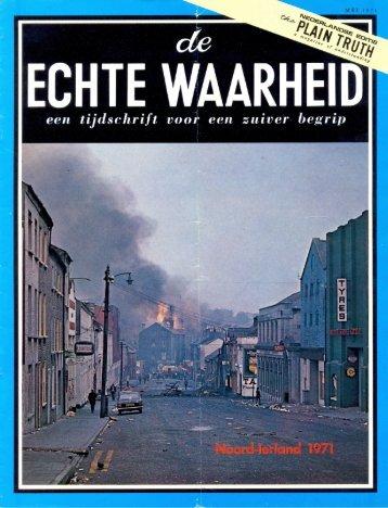 Echte Waarheid 1971 (No 05) Mei - Herbert W. Armstrong Library ...