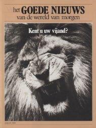 Goede Nieuws 1983 (Prelim No 01) Jan - Herbert W. Armstrong ...