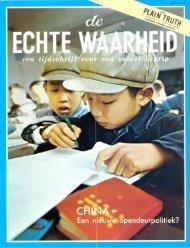 Echte Waarheid 1972 (No 06) Jul - Herbert W. Armstrong Library ...