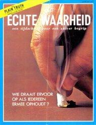 Echte Waarheid 1973 (No 01) Jan - Herbert W. Armstrong Library ...