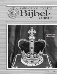 AC Bijbel Cursus Les 20 - Herbert W. Armstrong Library and Archives