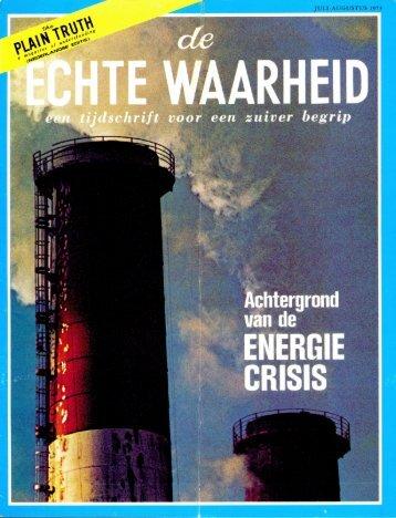 Echte Waarheid 1973 (No 07) Jul-Aug - Herbert W. Armstrong ...
