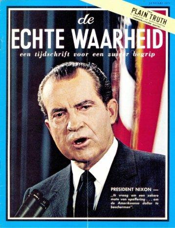 Echte Waarheid 1972 (No 01) Jan - Herbert W. Armstrong Library ...