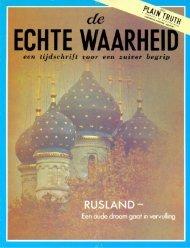 Echte Waarheid 1972 (No 09) Okt - Herbert W. Armstrong Library ...