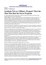 Synthetic Pot as a Military Weapon? Meet the Man Who Ran the ...