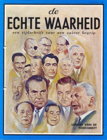 Echte Waarheid 1969 (No 01) Jan - Herbert W. Armstrong Library ...