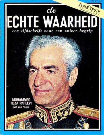 Echte Waarheid 1972 (No 03) Maa - Herbert W. Armstrong Library ...