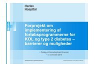 Muligheder og udfordringer i samarbejdet mellem Herlev Hospital ...